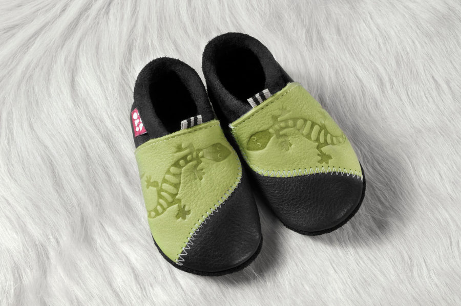 chaussons cuir souple enfant bio Lyon