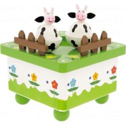 Boîte à musique Vaches