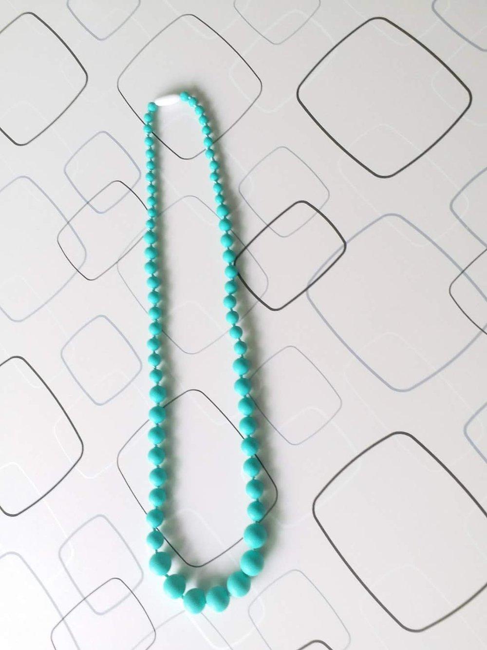 Collier de portage bébé – Silicone bleu