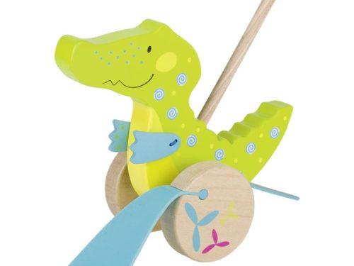 jouets en bois à pousser bébé Lyon