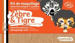 Maquillage Zèbre et Tigre