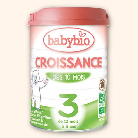 lait de croissance dès 10 mois