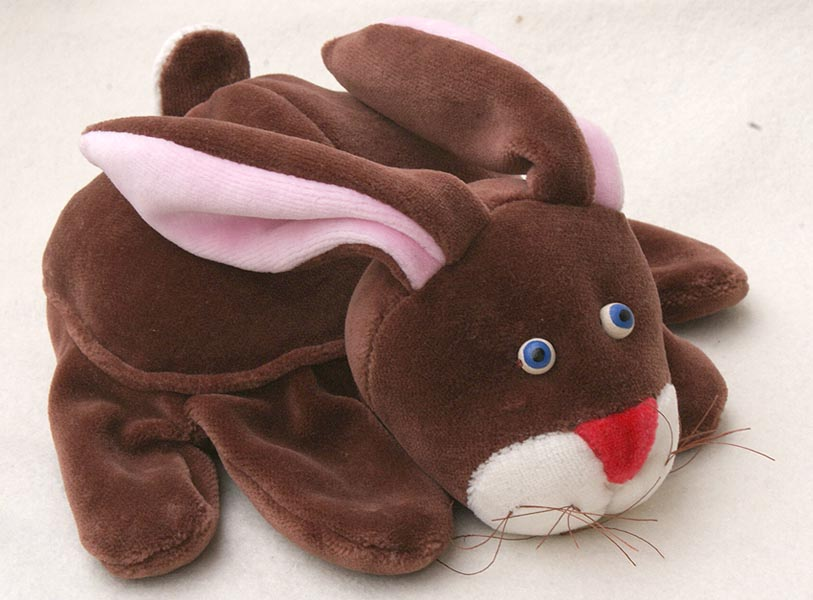 Marionnette 5 doigts Lapin