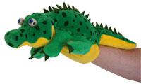 marionnette à 5 doigts  crocodile