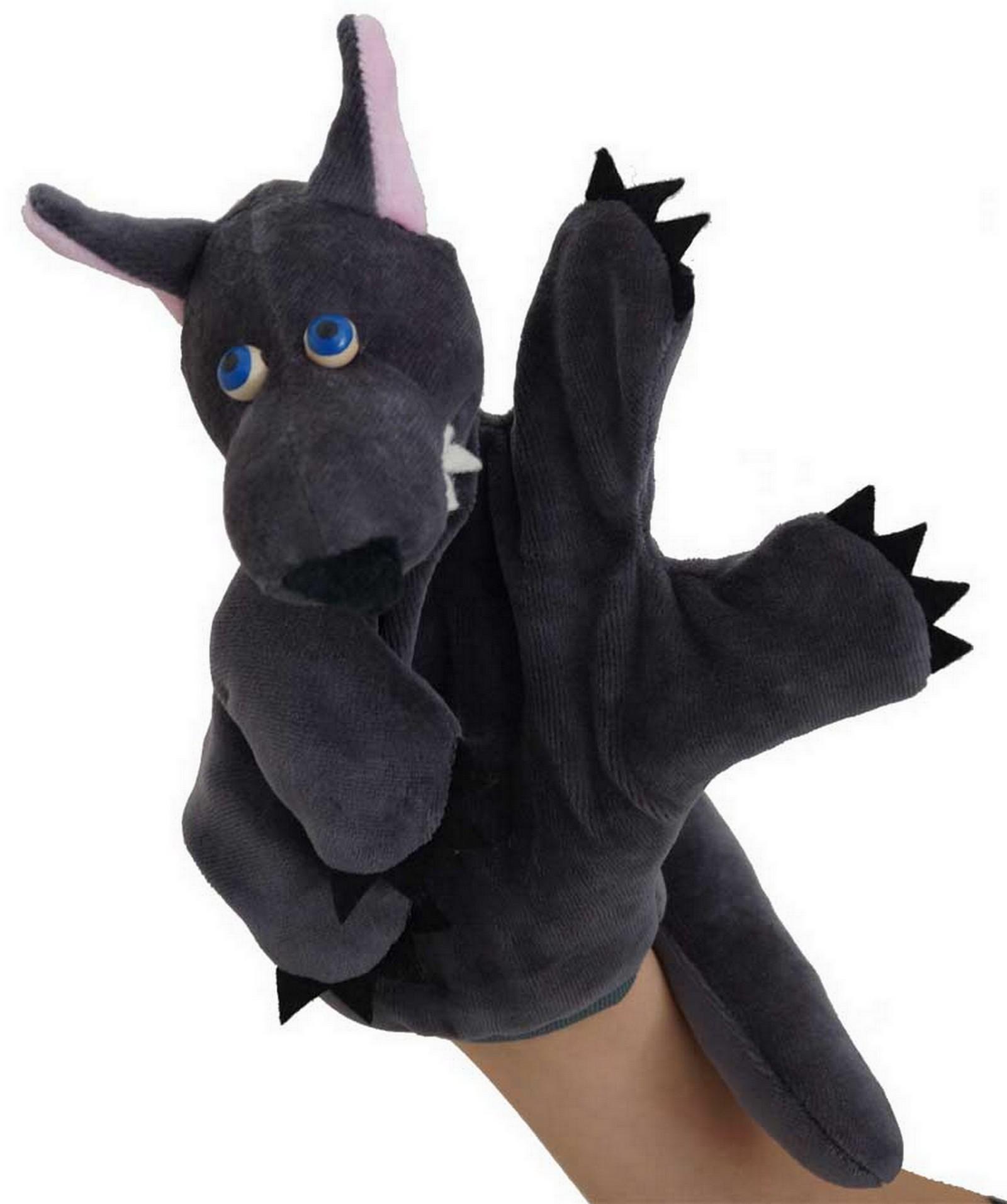 Marionnette à main Loup