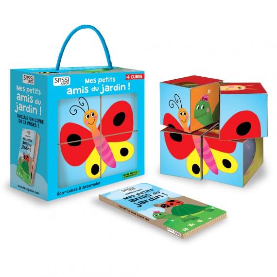 puzzle cube + livre mes amis du jardin