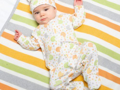 pyjama pour bébé grenouillère en coton bio Lyon